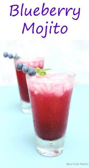 Blueberry Mojito | Blue Crab Martini