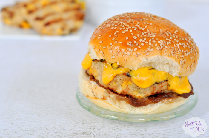 Cheesy Chicken Apple Burger