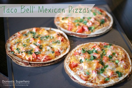 Taco Bell Mexican Pizzas