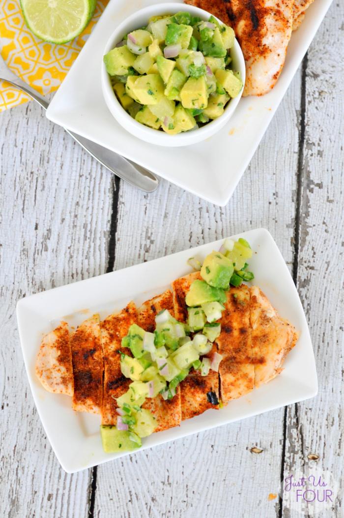 Chipotle Chicken with Avocado Salsa