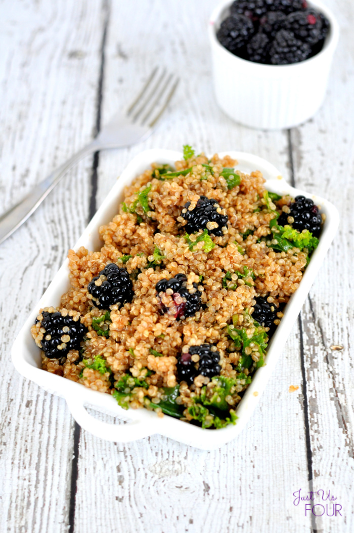 Kale Quinoa Salad with Blackberries