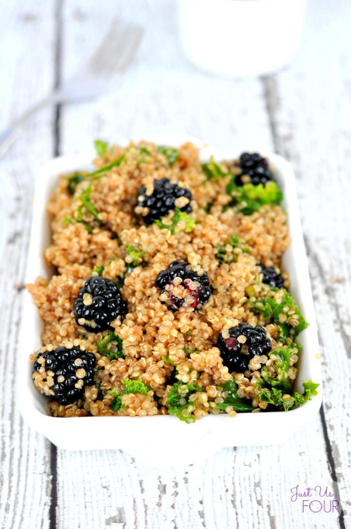 Kale Quinoa Salad with Blackberries