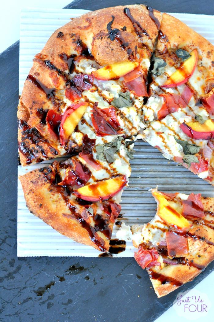 Peach and Prosciutto Pizza