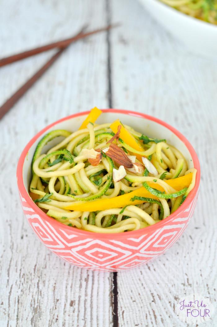 Thai Sesame Zucchini Noodles {Zoodles}