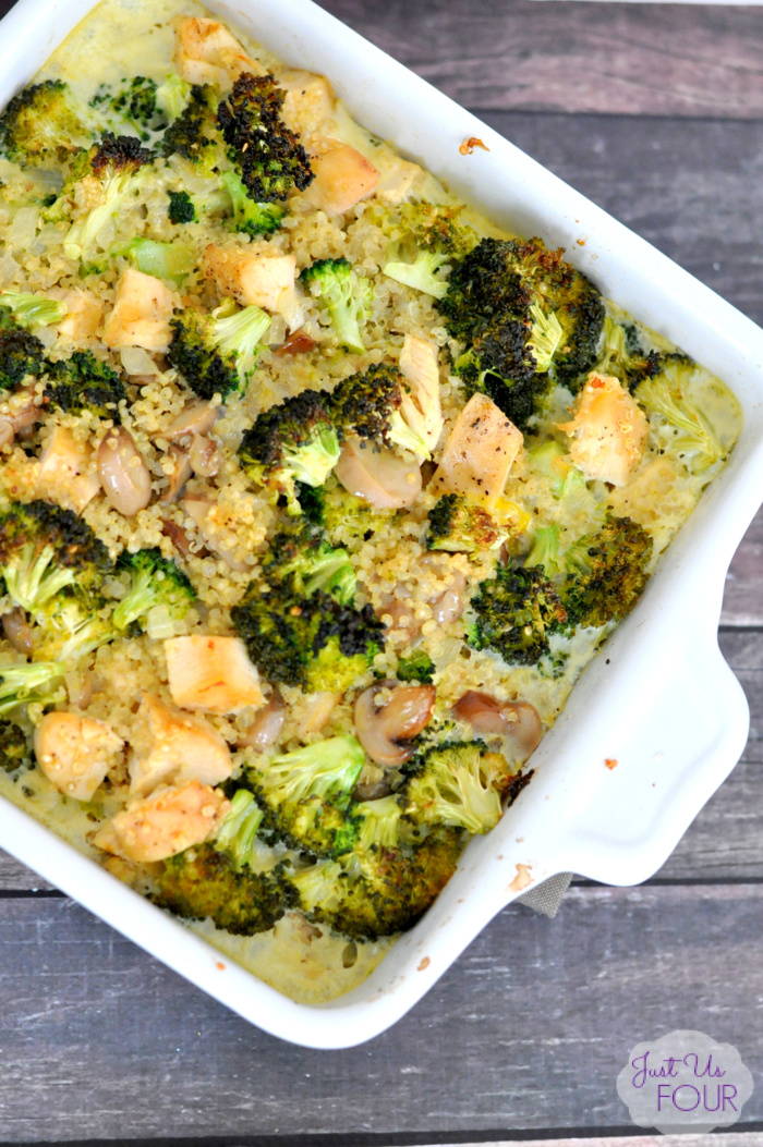 Chicken Broccoli Quinoa Casserole is the perfect dinner for a busy weeknight.