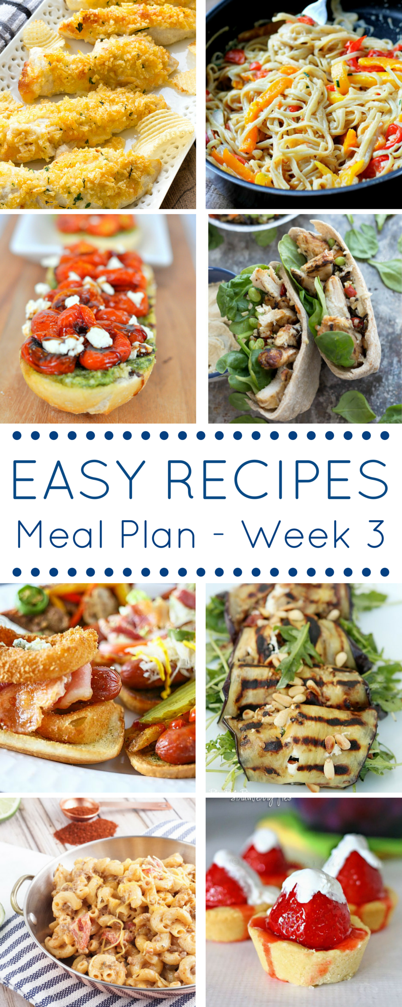 Easy Recipes Meal Plan - Week 3