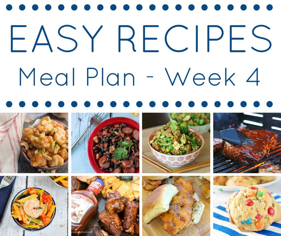 Easy Recipes Meal Plan