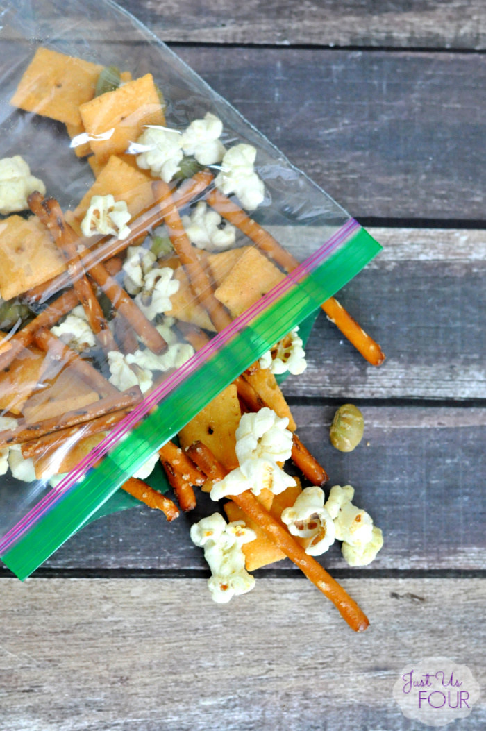 This Yummy Snack Mix Recipe is the perfect thing for lunch boxes this back to school season.