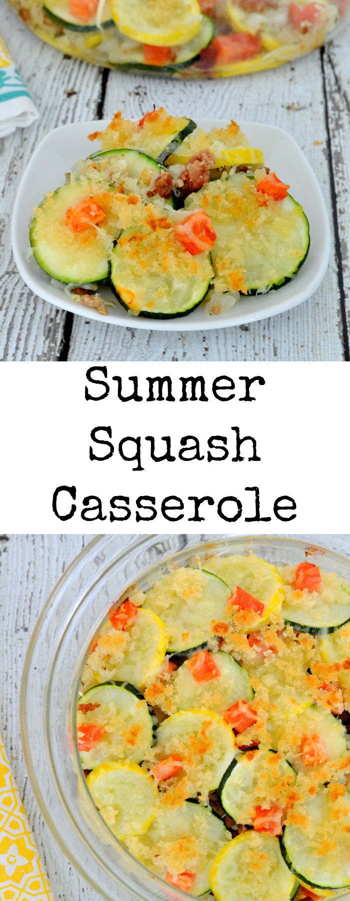 Southern Summer Squash Casserole