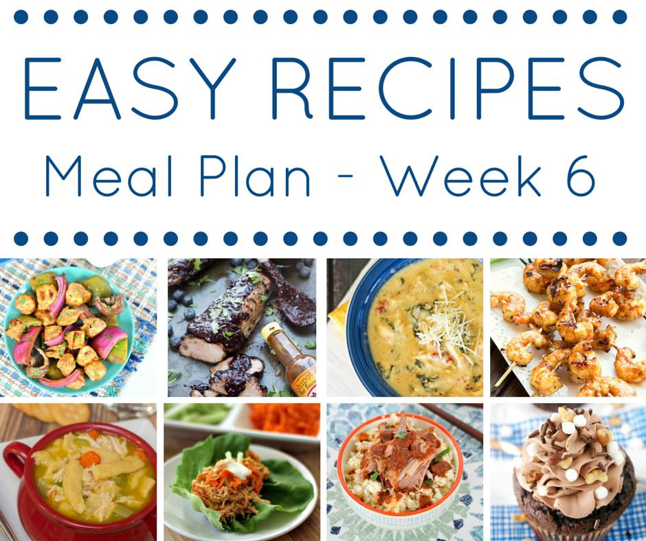 This week's meal planner is full of easy recipes for dinner plus a delicious dessert!