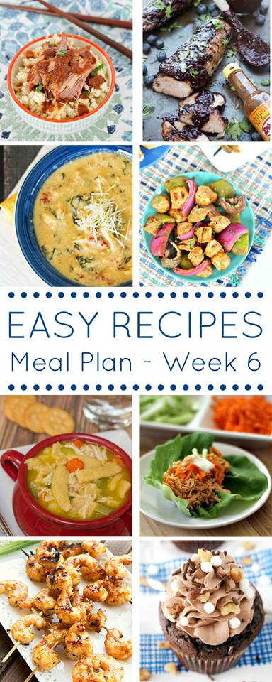 Use this week's meal plan which is full of easy dinner recipes to help making getting dinner on the table simple!