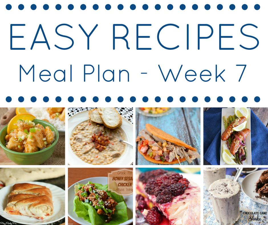 This easy dinner recipes meal plan makes getting dinner on the table a breeze!