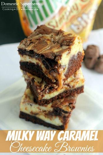 Milky Way Simply Caramel Cheesecake Brownies 5