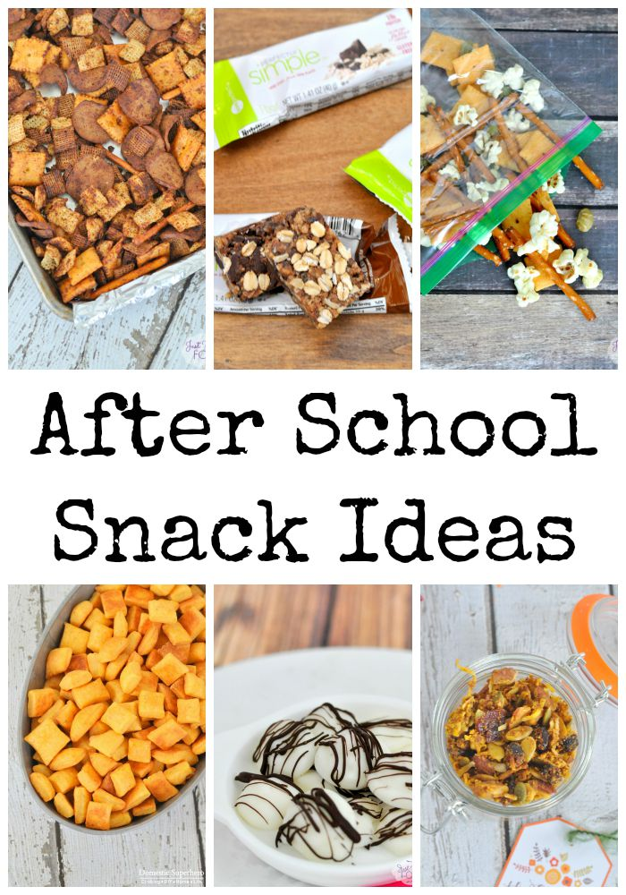 Six After School Snack Ideas