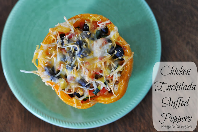 Chicken Enchilada Stuffed Pepper