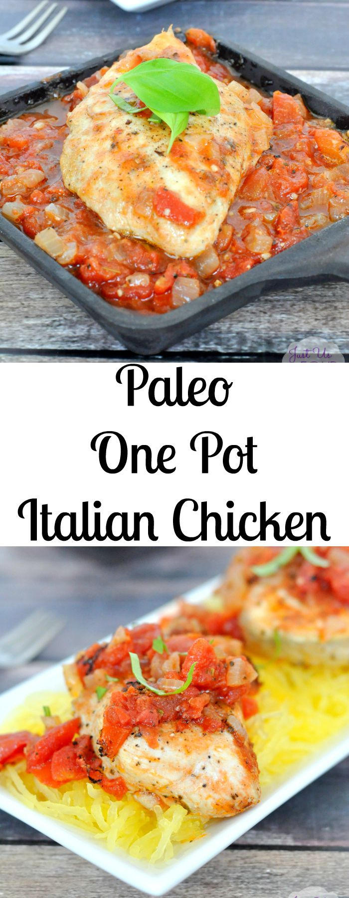 Paleo One Pot Italian Chicken is the perfect meal for busy nights or when you don't want to get a lot of dishes dirty!