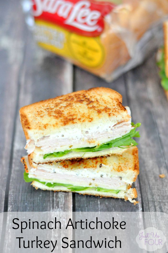 Spinach Artichoke Turkey Sandwich