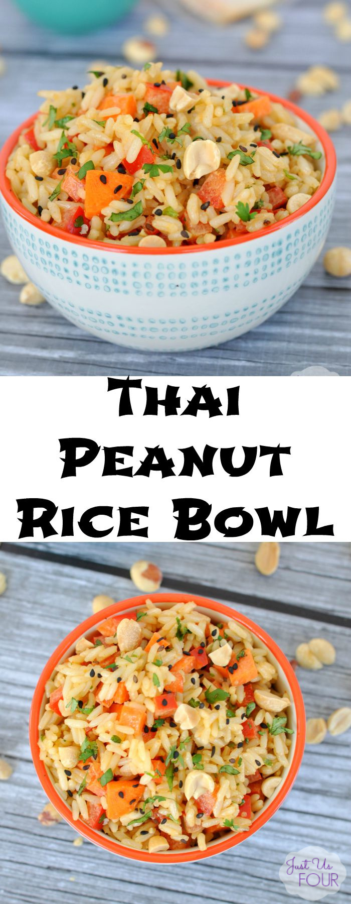A Thai Peanut Rice bowl is the perfect dinner option when you need something quick and easy but still want it to taste delicious.