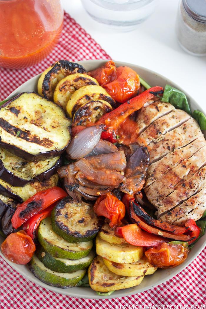 04 - Lexis Clean Kitchen - Grilled Veggie Chicken Salads