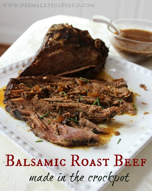 13 - Primally Inspired - Crockpot Balsamic Roast Beef