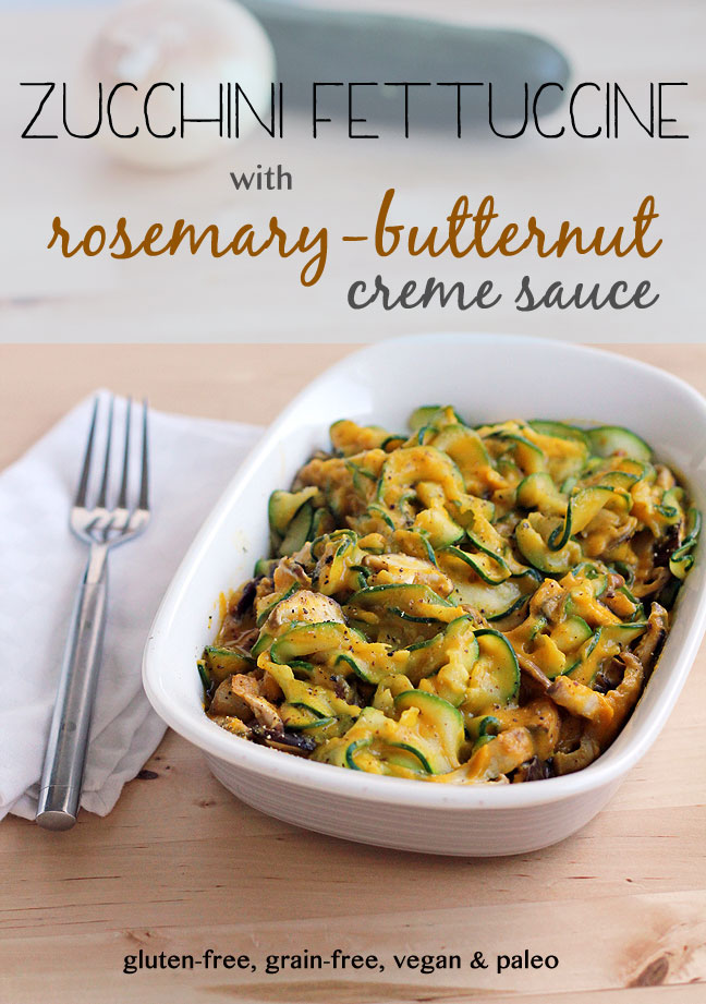 30 - In Sonnets Kitchen - Zucchini Fettucine with Rosemary Butternut Sauce