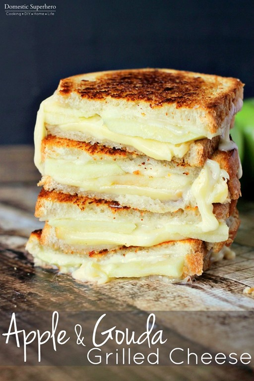 Apple & Gouda Grilled Cheese - My Suburban Kitchen
