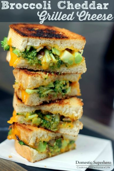 Broccoli and Cheddar Grilled Cheese (8)