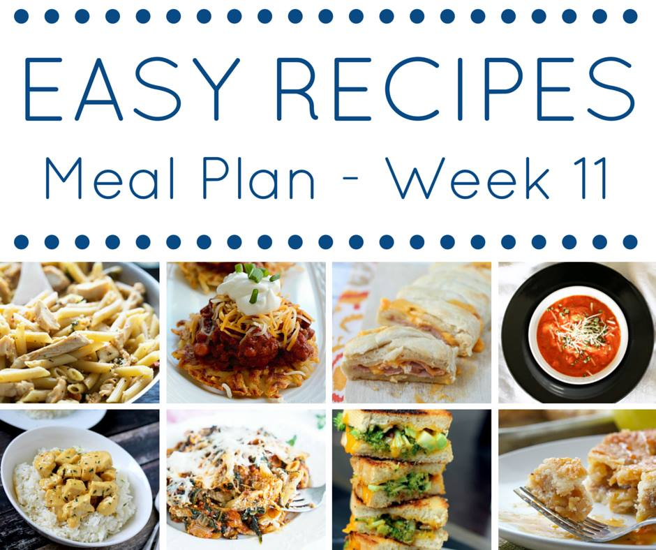 A meal plan full of easy dinner recipes makes getting on the table each night so simple.