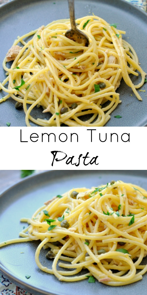 Lemon Canned Tuna Pasta
