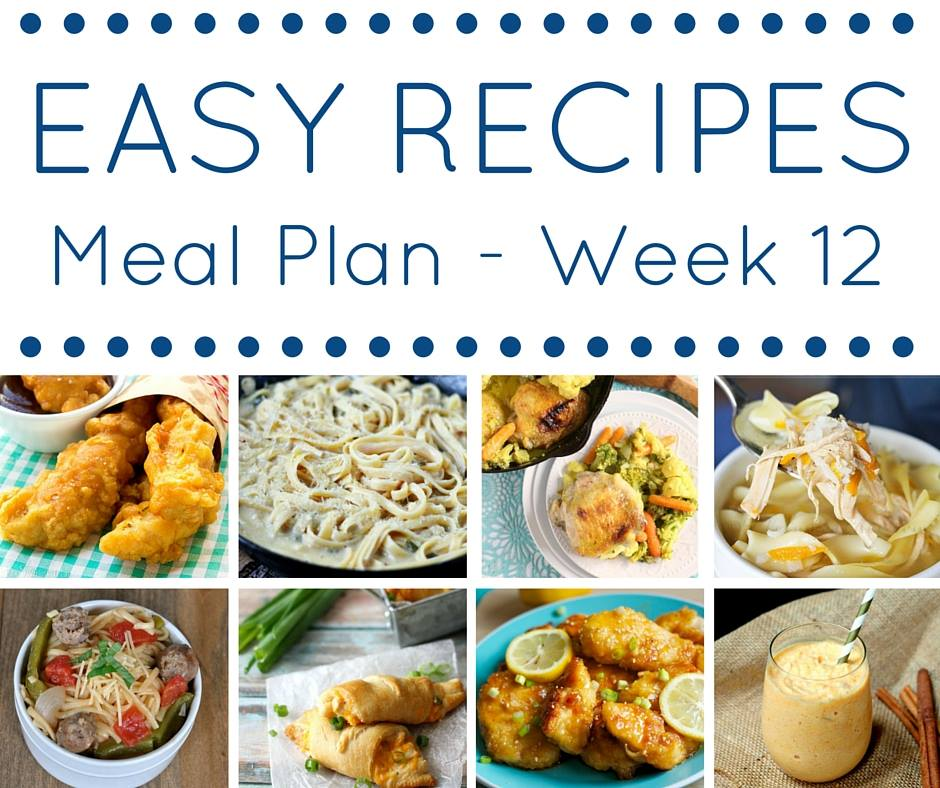 Making dinner each night is so easy with this easy recipes meal plan! So many amazing ideas all planned out for the week.