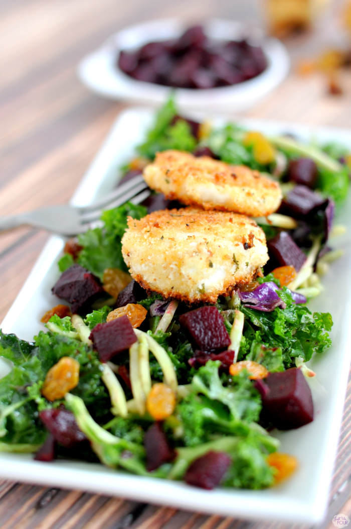 Fried Goat Cheese and Beet Salad