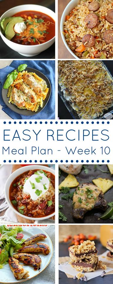 A meal plan full of easy dinner recipes!