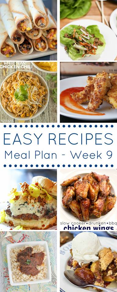 Grab this meal plan full of quick and easy dinner recipes and be ready every night of the week for dinnertime.