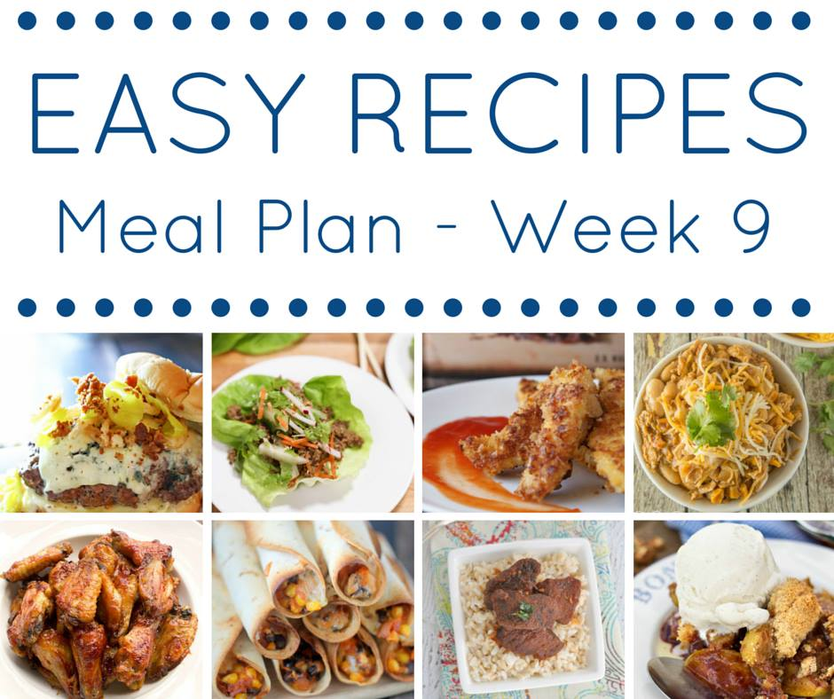 Quick and easy recipes all put together in an easy meal plan for you!