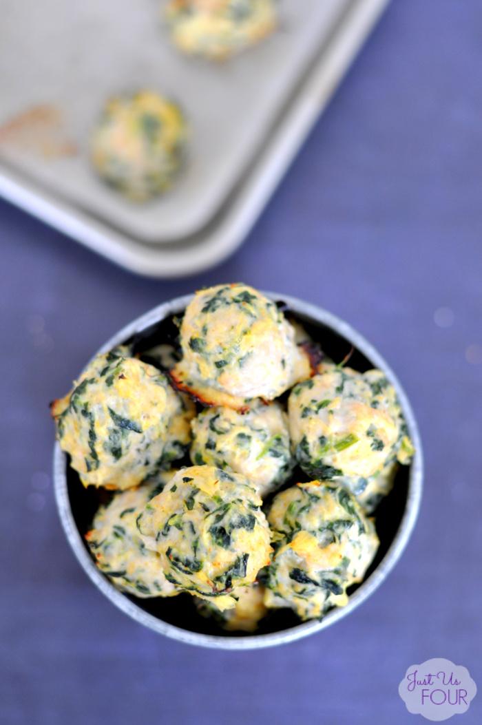 Paleo Chicken Spinach Meatballs - Grain Free, Dairy Free, Gluten Free