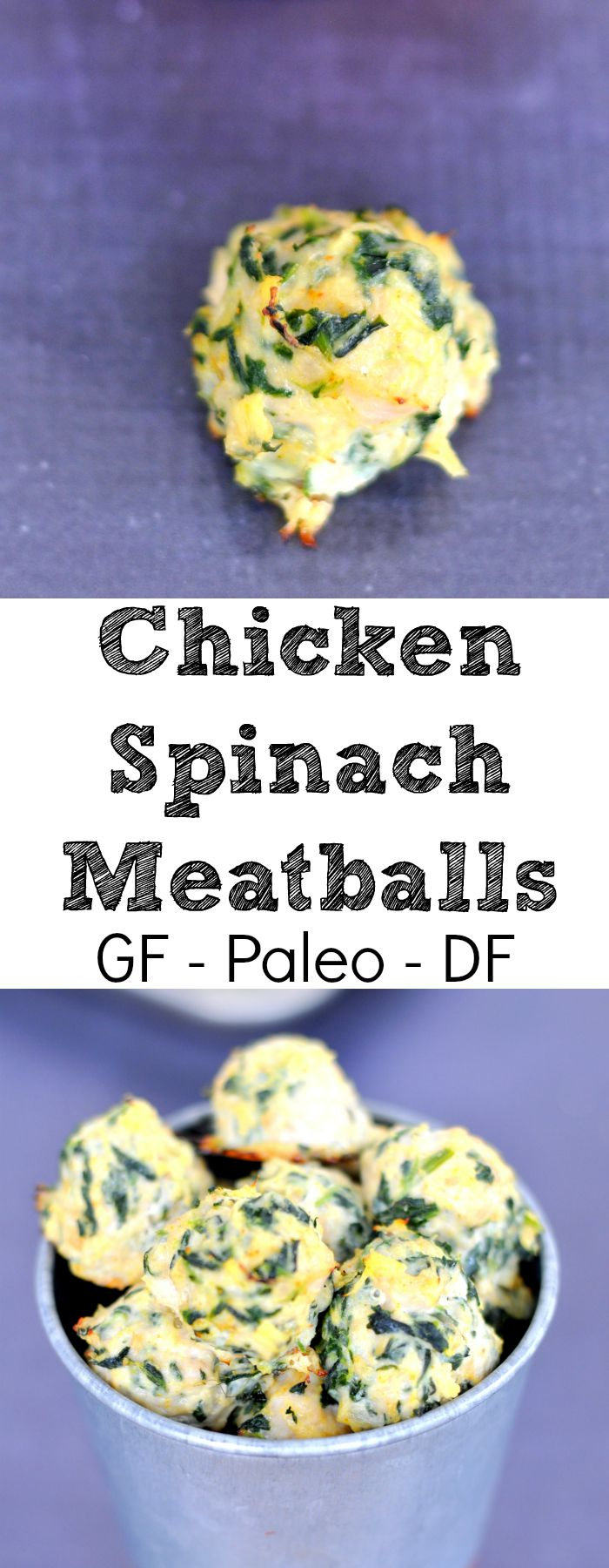 Paleo Chicken Spinach Meatballs