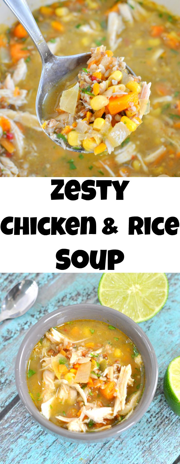Zesty Chicken and Rice Soup is the perfect quick and easy fall lunch or dinner.