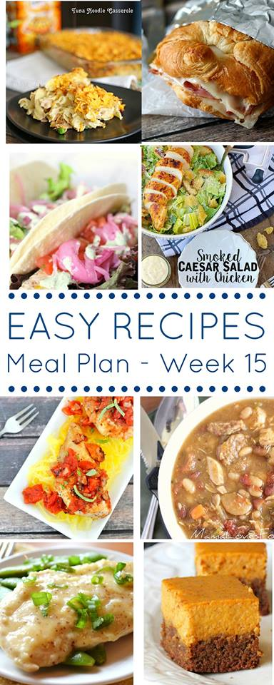 Easy Dinner Recipes Meal Plan