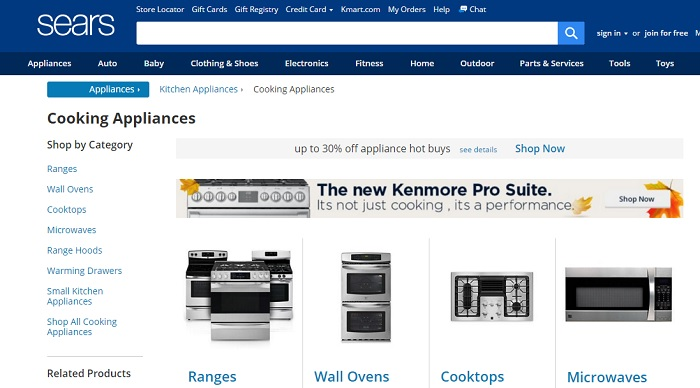 appliance page