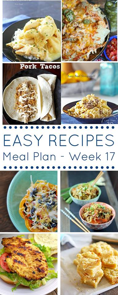Grab a pen and paper because this easy dinner recipes meal plan is all you need to make your grocery list this week.