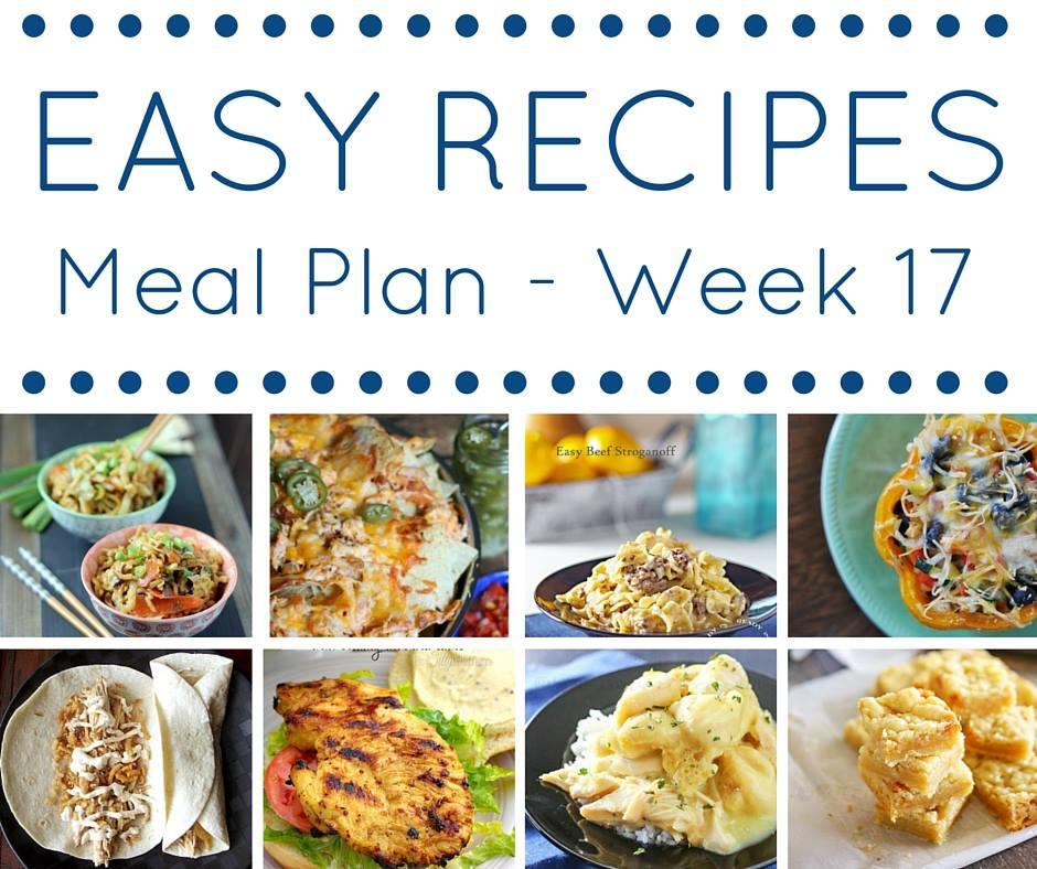 Easy Dinner Recipes Meal Plan