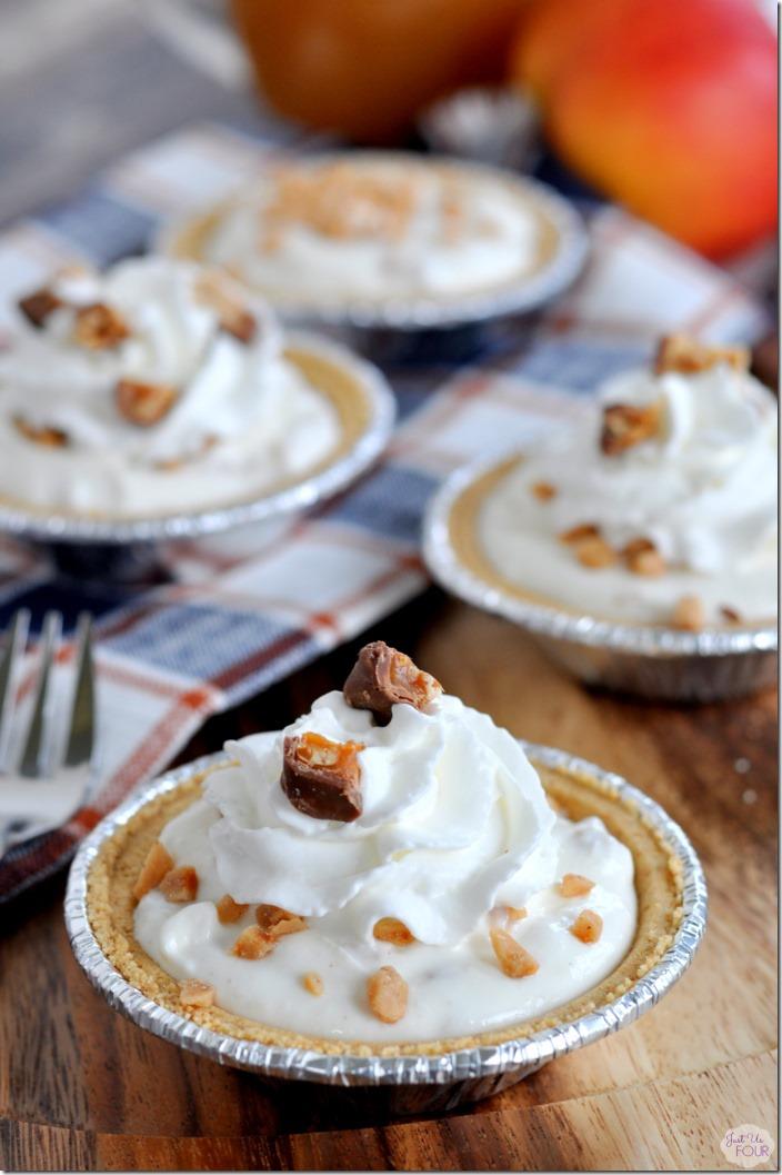 No Bake Mini Apple Toffee Pies