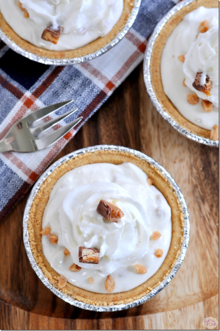 No Bake Mini Apple Toffee Pies