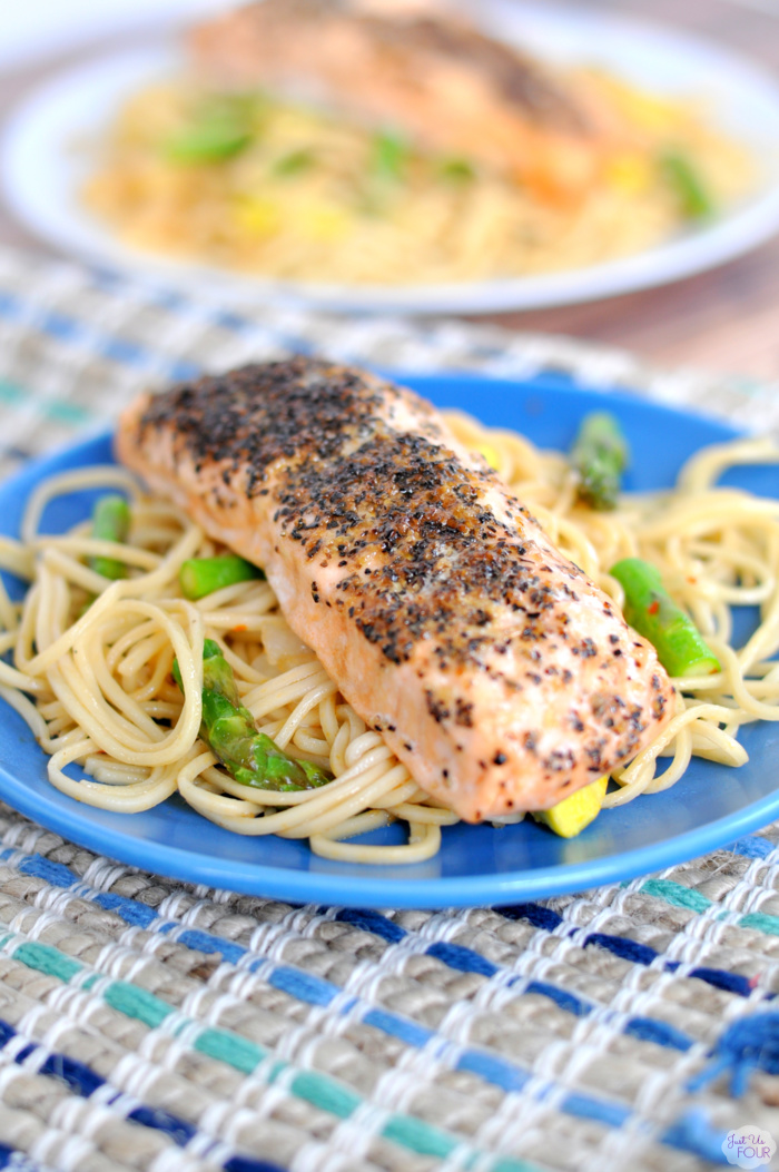 Peppered Salmon Stir Fry