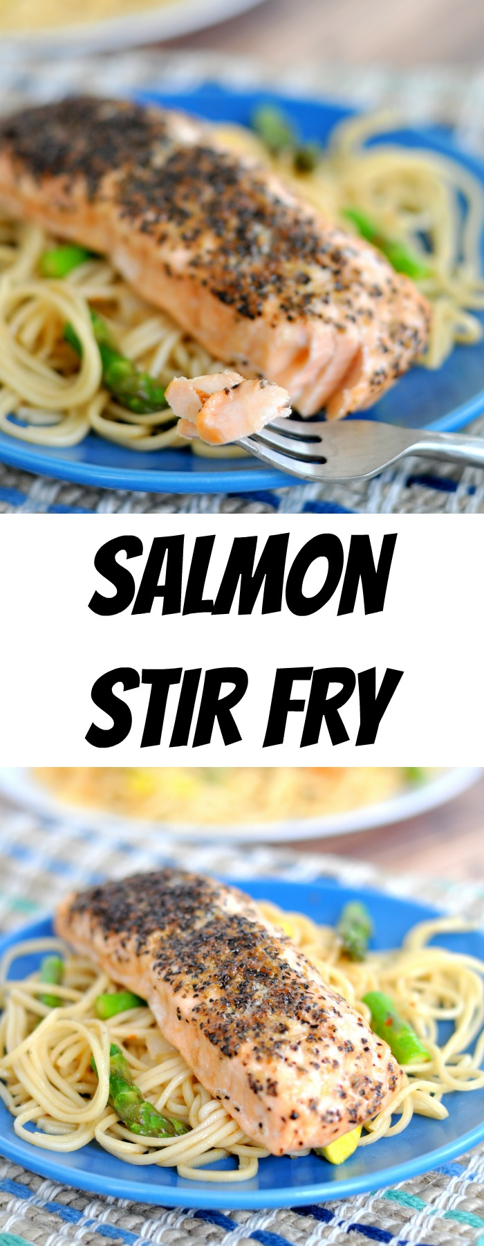 Peppered Salmon Stir Fry makes a quick, easy and delicious weeknight meal!