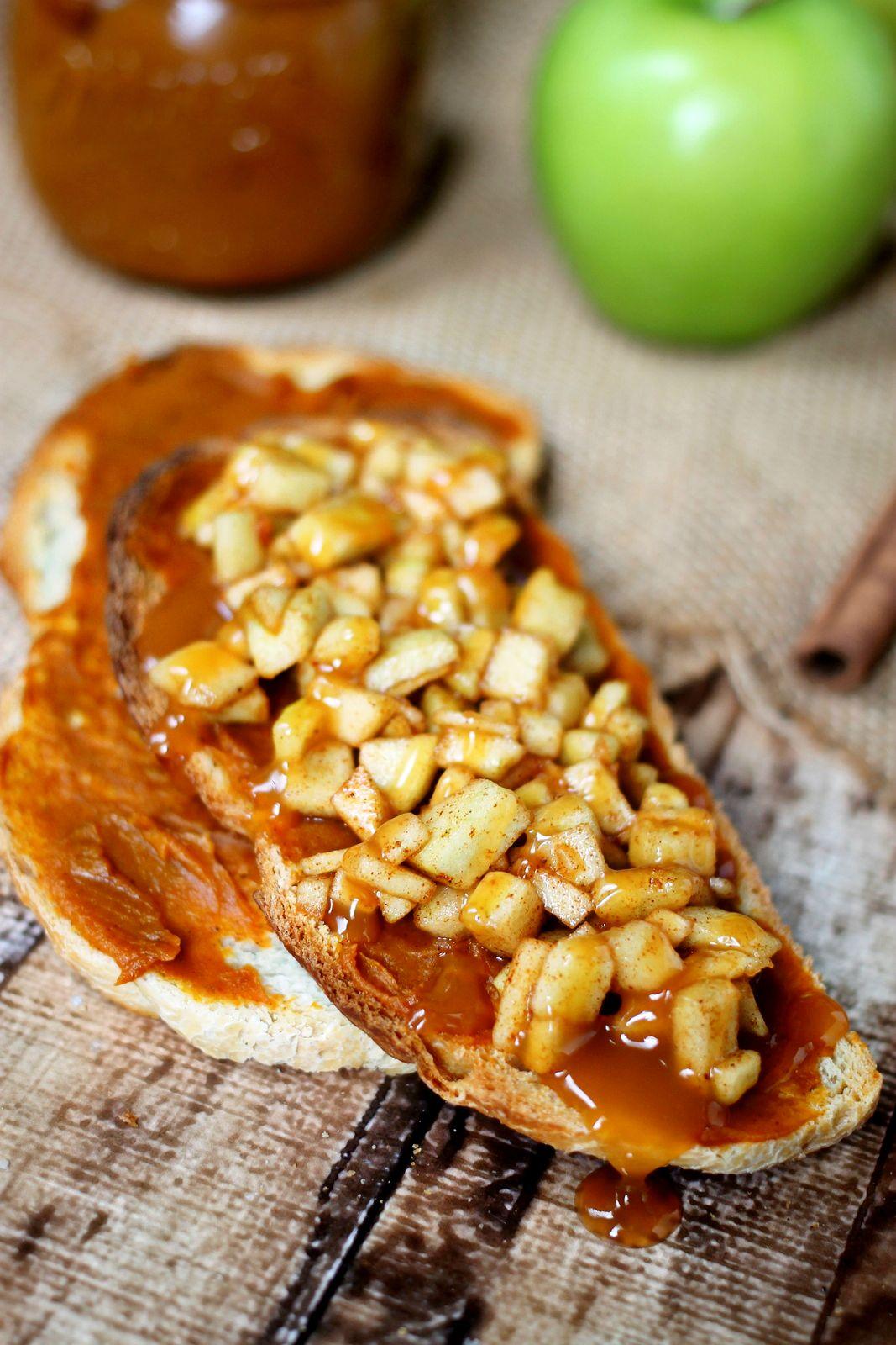 Caramel Apple Bruschetta Recipe