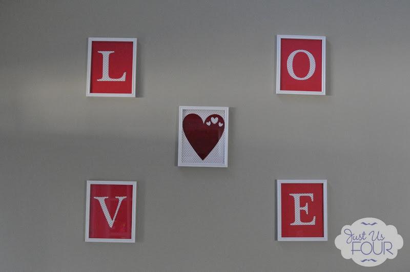 Love Frames in Entryway