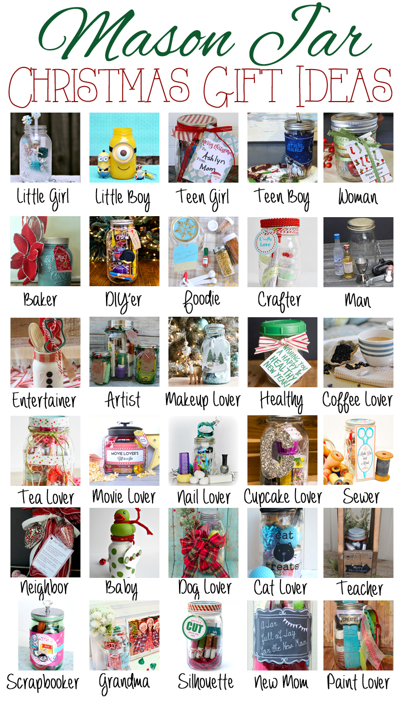 Over 30 Mason Jar Gift Ideas for Anyone on Your List