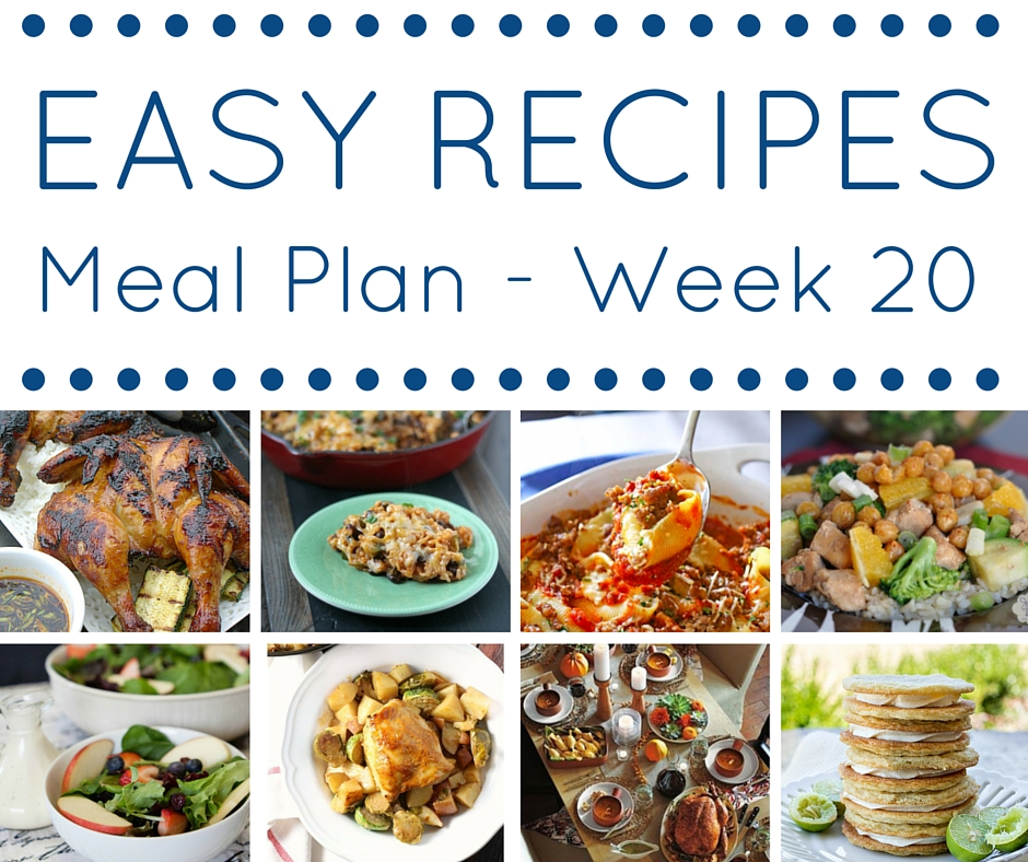 Skip the stress of deciding what is for dinner each night and use our easy recipes meal plan instead!