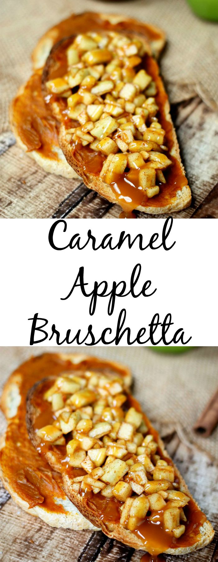 Caramel Apple Bruschetta